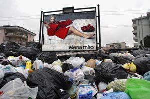 Italy, Naples, garbage city