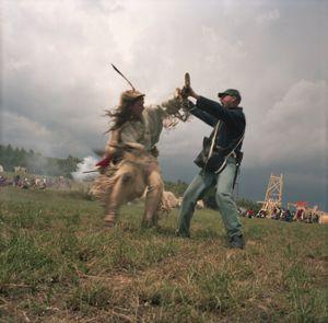 Civil War Reenactment Battle, Brezno, Czech Republic, 2014