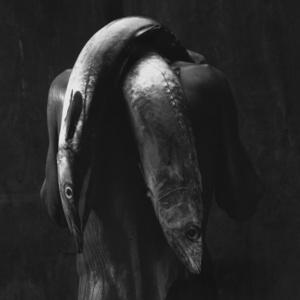Homem com dois peixes, 1992 [Man with two fish]. Courtesy of Daros Latinamerica Collection, Zürich. © Instituto Mario Cravo Neto / Instituto Moreira Salles