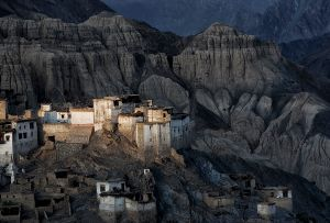 Lamayuru, India: A Ladakh settlement in the Himalayas at sunset. © Matjaz Krivic