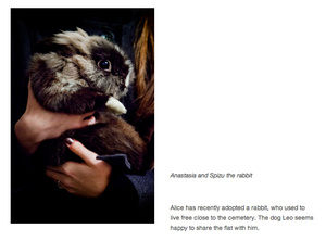 Anastasia and Spizu the rabbit