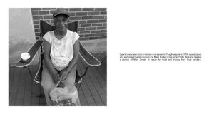 Radius: Carmen who once performed in a black rodeo & who now collects trash on Main St. in exchange for money & food.