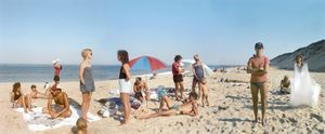 A Day on the Beach, 3 Part Panorama, Cape Cod, 1983. © Joel Meyerowitz. Courtesy Edwynn Houk Gallery, NY