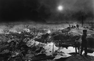 "Cambodia. Bombardment of Phnom-Penh. 1975. From the book ""War Photographer: Between Shadow and Light"" © Christine Spengler"