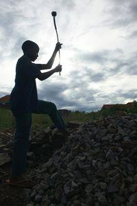 © 2014, Stephen Shames — Uganda. Rock quarry.
