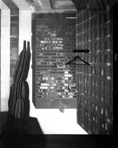 Camera Obscura Image of Three Buildings in Room with Cactus, LaSalle Bank, Chicago, IL, 2005 © Abelardo Morell