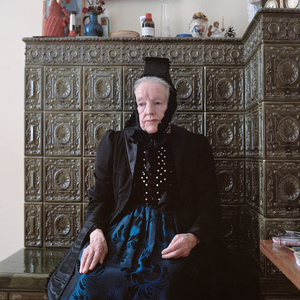 Luise Ketterer (b. ca. 1930) in her Sunday dress for church, Black Forest, Germany, 2012. From the series: Village Queens. The last women in their traditional peasant garbs