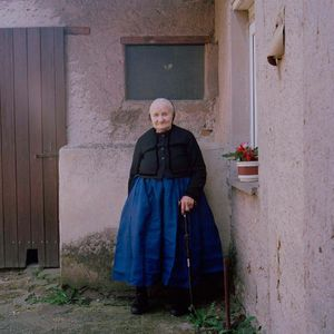 Marie Wirth, Protestant Sorb, near Hoyerswerda, Lusatia, 2015. From the series: The last women in their traditional peasant garbs