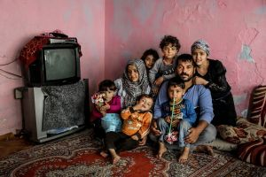 Abdullah-al-Gajim is now living in a small, old house with his family in Fatih, Istanbul. He once was a driver in Aleppo. Last year, his car was destroyed by a bomb while his pregnant wife lost her baby. At the moment, he has found work in a belt shop. © Turjoy Chowdhury