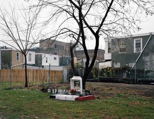 Memorial for Nicole Piacentini, victim of the 'Kensington Strangler', corner of Jasper and Cumberland Street, 2013.