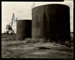 © Radek Skrivanek, Fuel storage tanks, abandoned port structures, Aral Sea
