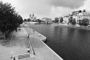 Seine River at Saint Michel District Of Paris