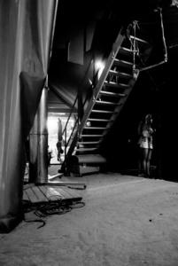 Backstage scene