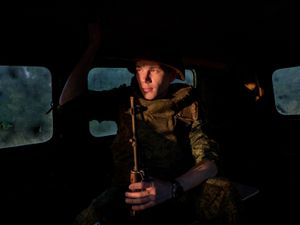 Maxim, a 21-year-old separatist volunteer going to the frontline of Adveevka.
