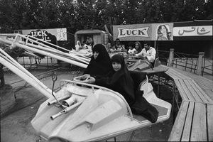 "Iran. Luna Park. 1979. From the book ""War Photographer: Between Shadow and Light"" © Christine Spengler"