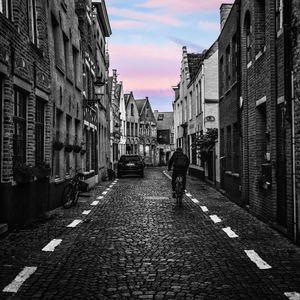 The sky in Bruges