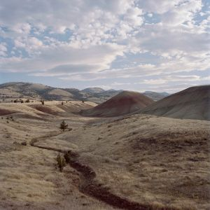 The Painted Hills form part of the John Day Fossil Beds located in Eastern Oregon