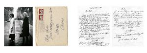 Left: Nana  Jacky, le Marais, 1961. Right: Letter signed by Jacky, February 1961. From the photobook Les amies de place Blanche, Aman Iman Éditions. © Christer Strömholm.