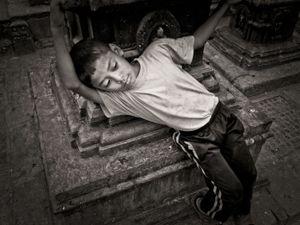 Boy at Swayambhunath