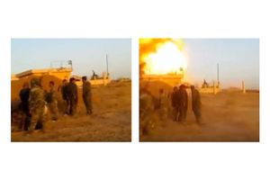 Syria War 2015 - IS SVBIED Explosion Close To Syrian Army Soldiers Position In Al-Hasakah