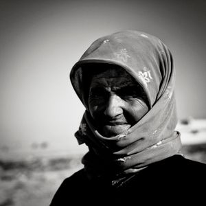 Syrian refugee in cam near Jeeza, Jordan