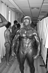 A competitor backstage