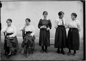 Female Workers in Front of the Chocolate Factory, Cima Norma, Dangio-Torre, Nd © Fondazione Archivio Fotografico Roberto Donetta, Corzoneso. Showing at the Tbilisi Photo Festival 2017.