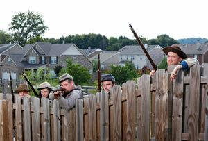 Confederate re-enactors at Spring Hill, Tennessee, 2010.