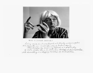 Who is Sidney Sherman? 2000 © Duane Michals; The Henry L. Hillman Fund. Courtesy of Carnegie Museum of Art, Pittsburgh