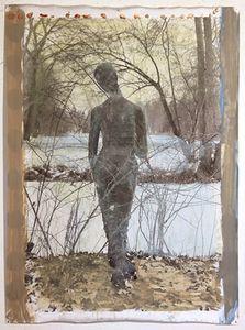 Statua 12, 2013, Mixed Media on Silver Gelatin Print, 171 x 127 cm © Jeff Cowen