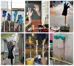 """From the series """"Informal Solutions,"""" a visual collection of the endless ingenuity displayed by urban dwellers—using a typological, we discover workers' gloves, drying mops, maze-like ventilation pipes and much more."""