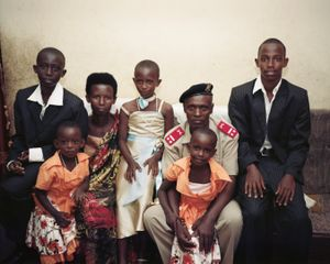 "The Soldier and His Family, Bujumbura. From ""Only in Burundi"" © Anaïs López"