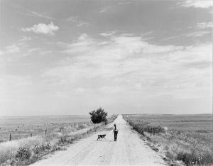 Walking. South of Grover, Colorado, 1973 © Robert Adams, Fraenkel Gallery