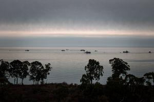 Turkish ships are fishing near Abkhazian coast. New Athos, Abkhazia. © Olga Ingurazova