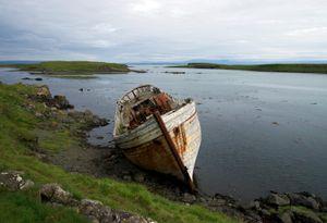 Boat Wreck on Flatey Island, Iceland - © Adel Korkor