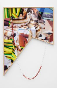 Composition 008, 2014. C-print, Plexiglass, wood, mixed media © Kate Steciw, courtesy Neumeister Bar-Am, Berlin