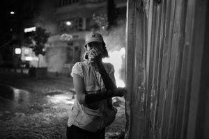 "Against the odds, protesters continued their resistance for many days. From the series ""Witnessing Gezi"" © Emin Ozmen"