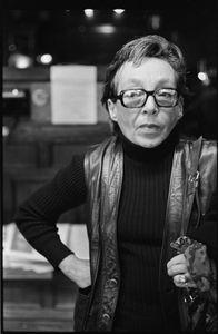 Marguerite Duras, 1975 © Sylvia Plachy, Galerie Spaces 54