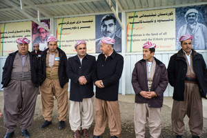 Pahmerga fighters at Barzani grave