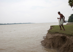 Ishak Hawladar is 95 years old who has lost his lands by river erosion. Morrelganj, Bagerhat