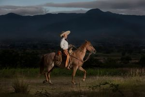 My dad, a Charro horseman. My countryside heritage.