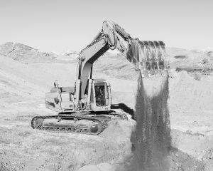 Excavator, Coober Pedy, Australia, 2016.