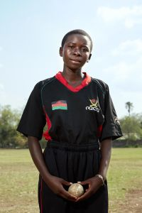 Triphonia, allrounder, Malawian Under 19 Women's Cricket Team, Blantyre, Malawi, 2016.
