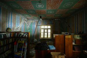 Kids bedroom in the half cracked house. Village Voghjaberd.