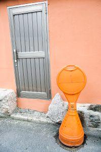 Door: Orange on Orange