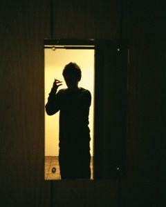 Le miroir de l'ascenseur
