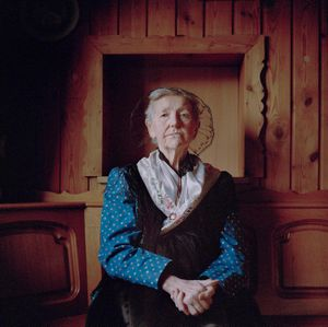 Luise Mellert, Black Forest, 2017. From the series: The last women in their traditional peasant garbs