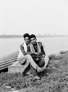 Gaurab and Ravi asked for a selfie near the Ganges.  Sahibganj - Jharkhand 2017