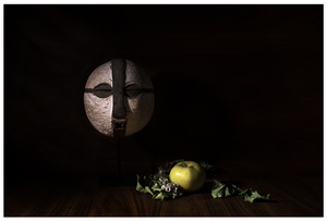 Still Life with Songye Mask and Apple
