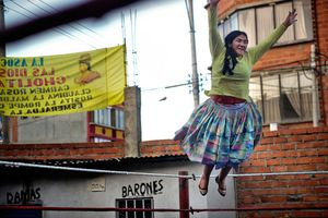 2nd Prize Arts and Entertainment Stories © Daniele Tamagni, Italy. The Flying Cholitas, Bolivia: Lucha libre (Bolivian wrestling) is one of the most popular sports in the country.